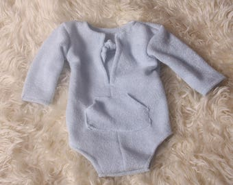 Newborn Baby Boy,Photo Shoot,Romper,long sleeved,cute front pocket,self ties,short leg romper,stretch fabric,Handmade by me,I ship worldwide
