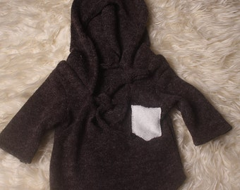 Newborn Wizard Romper,Unisex,Hooded,Long Sleeved,Short Leg,Photography Prop,Available in several colors,Handmade in UK.I ship worldwide.