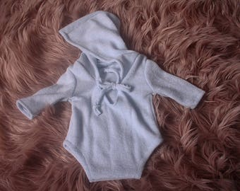 Newborn,RTS,Unisex,Hooded,Long Sleeved,Short Leg,Romper,Photography Prop,Available in several colors,Handmade in UK by me.I ship worldwide.