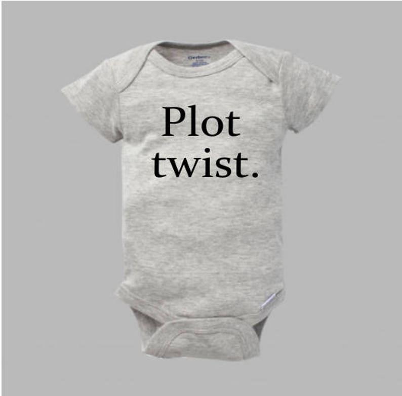 5a2c419d4d5f Plot Twist Baby Bodysuit Plot Twist Pregnancy Announcement