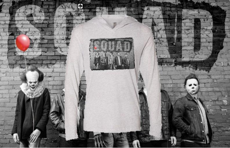 7ae96b812 Horror Movie Squad Shirt Halloween Horror Movie Hoodie | Etsy