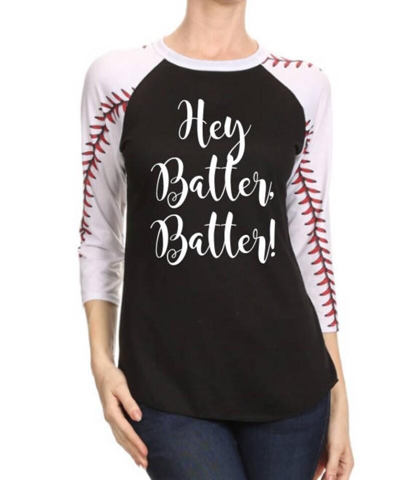 40cffb420 Hey Batter Batter Shirt Women's Baseball Shirt | Etsy
