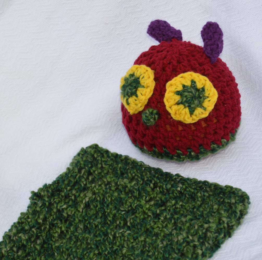 Crochet Hatcocoon Photo Prophungry Caterpillar Inspired Etsy