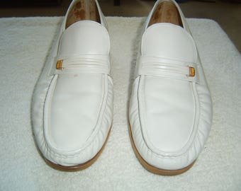 153ce5ed51d Men s pure white loafers by Florsheim