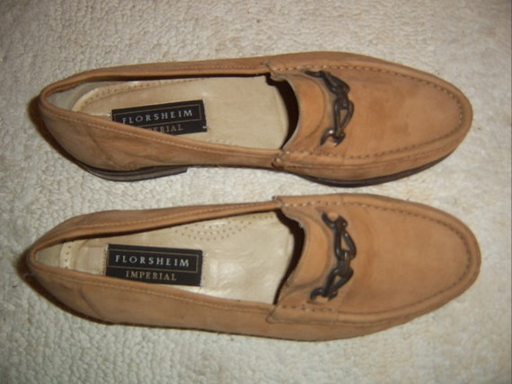 Florsheim Imperial fawn suede slip-ons/loafers
