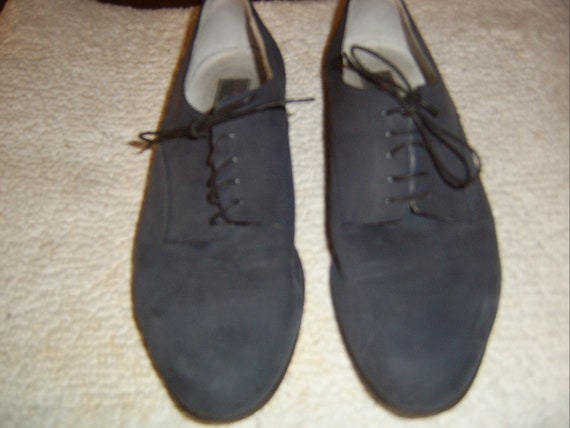 Men's Blue Suede Dress/Casual shoes