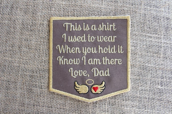 MEMORY Pillow Patch Love Dad or Grandpa