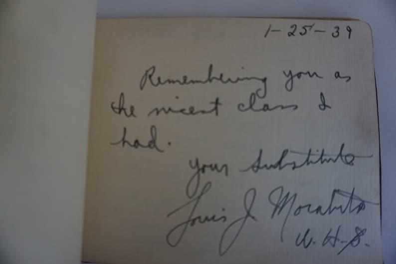 1939 School Autograph Book Full 1645