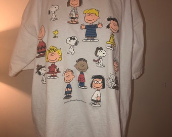 49e503e87 Vintage 1994 Logotel Peanuts Snoopy Schultz United Features Big Pen Lucy  Charlie Brown And Gang T-Shirt USA