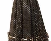 Vintage 70 s Gunne Sax Jessica McClintock Planck White Polk A Dot Tie Sleeveless Bustier Ruffled Prairie Party Maxi Dress