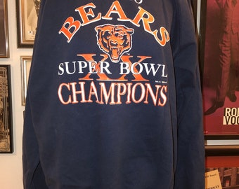 Vintage 80 s Trench Chicago Bears Super Bowl Champions Monsters Of The Midway  Sweatshirt Top Shirt USA 8a15f8bd9