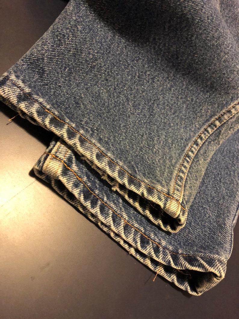 Vintage 80/'s Tommy Hilfiger Denim Jeans With Flag Logo Embroidering USA