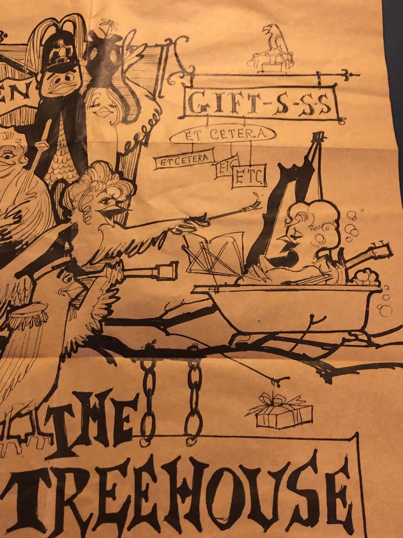 Vintage 1959 Tree House New York NY Comedy Comic Club Jonathon Winters Jack Brand Mabel Show Poster Print Flier