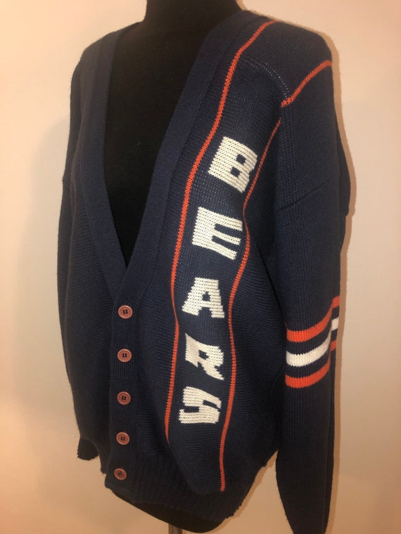 detailing 8ef3f 4663e Vintage 80's Cliff Engle LTD Chicago Bears Monsters Of The Midway NFL  Football Knit Button Front Cardigan Sweater