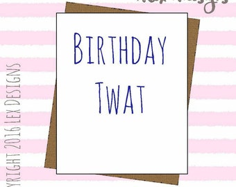 Funny joke adult birthday card banter hilarious swear crude insult rude greeting card blank inside