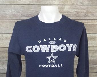 45d0f4a8 Dallas Cowboys LEE Sport Blue Vintage Pullover 50/50 Sweater Size Boys  Medium M | 1990s 90s | NFL Sportswear