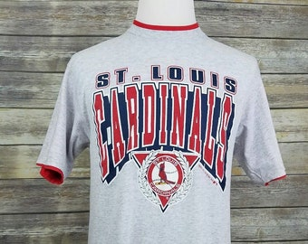 bb0c2d3a St Louis Cardinals Vintage 90s Spell Out 50/50 MLB Baseball Shirt | Adult Size  Large L | Vtg 1990s Sportswear