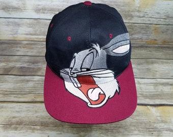 Bugs Bunny Bugs Vintage 90s Warner Bros Looney Tunes 1994 Baseball Snapback  Hat OSFA d3bf74575cb