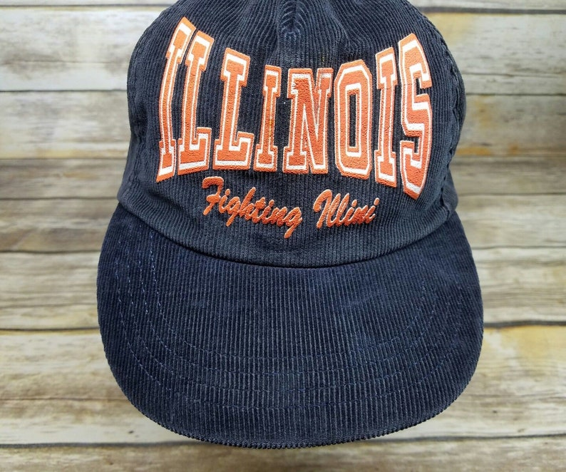 san francisco 84462 9f5dd Illinois Fighting Illini NCAA Spell Out Blue Corduroy Vintage   Etsy