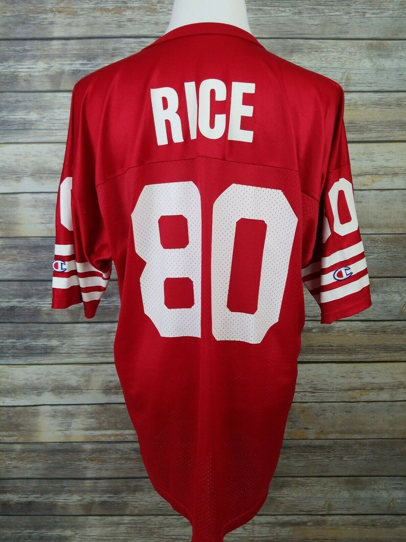 50a3e01b Jerry Rice #80 Vintage CHAMPION San Francisco 49ers Football Jersey | Adult  Size 52 XL | Vtg Hall of Fame NFL Memorabilia