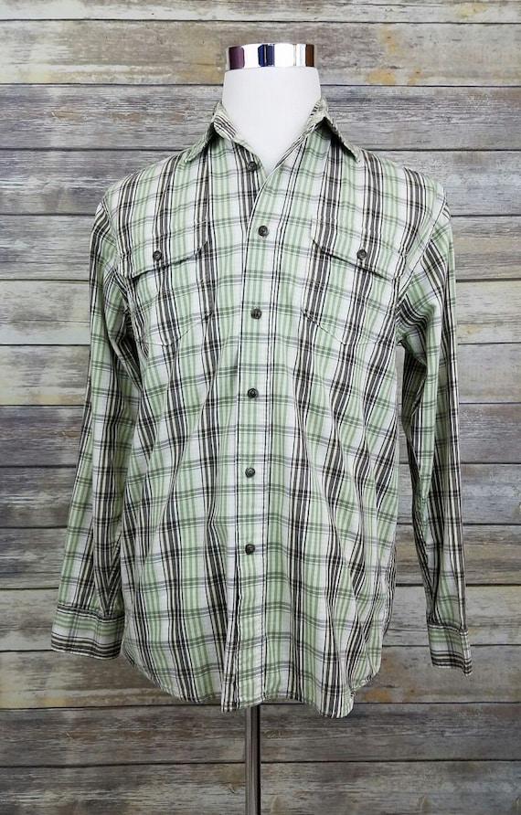 Wrangler plaid shirt long sleeve clothing women/'s  1990s small