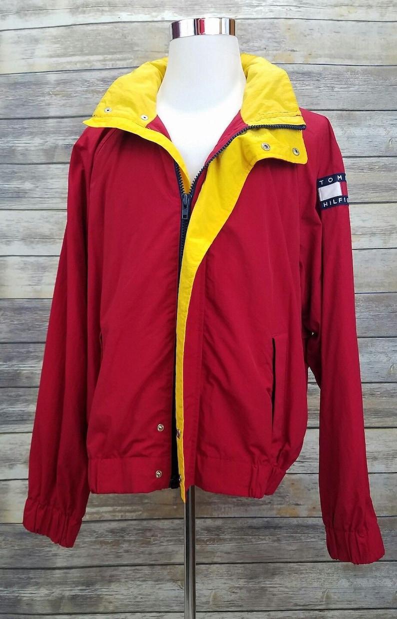 cf80570c Tommy Hilfiger Vintage 90s TOMMY JEANS Red Color Block Spell | Etsy