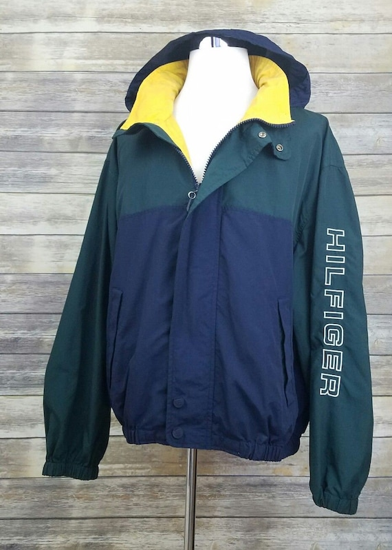 Details about Tommy Hilfiger Vintage 90s Sailing Color Block Spell Out Windbreaker Jacket XXL