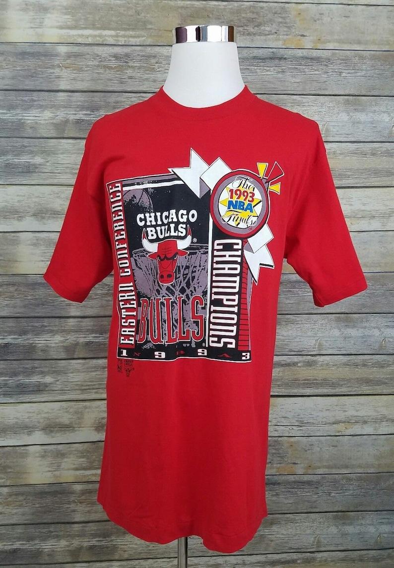 ebbdf353cebf Chicago Bulls Vintage 90s Champions Deadstock NBA Finals Red