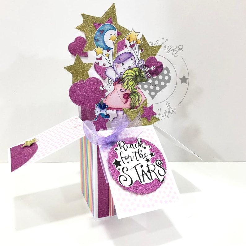 unicorn pop up box card pop up box card unicorn pop up