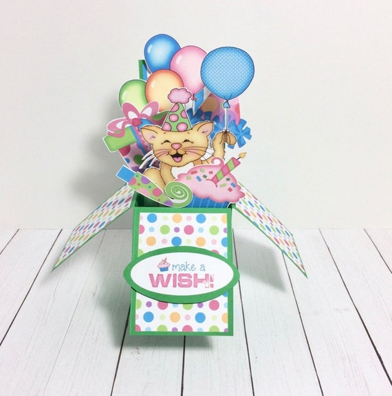 Tremendous Birthday Pop Up Card Birthday Pop Up Box Card Pop Up Card Etsy Funny Birthday Cards Online Inifofree Goldxyz