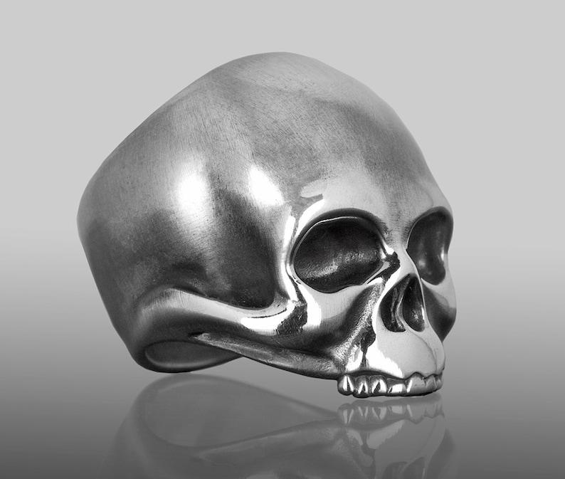 Keith Richards Skull Ring Skull Ring Silver Skull Ring Mens image 0