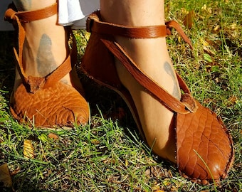 7dc7b2adc63b BOOK-ITS Women s ANKLE High Lace up Handmade Bison Leather Barefoot Strappy  Mary Jane Greek Earthy Roman Hiking Minimalist Durable Sexy Soft