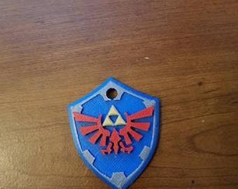 Hylian Shield 3D Printed Keychain (Legend of Zelda)
