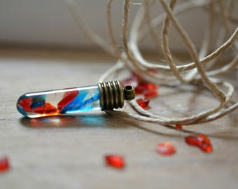 Test tube crystal necklace homegrown crystals test tube chemistry necklace boho chic science gift chemist present scientist gift chemist