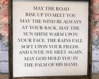 May The Road Rise Up Etsy