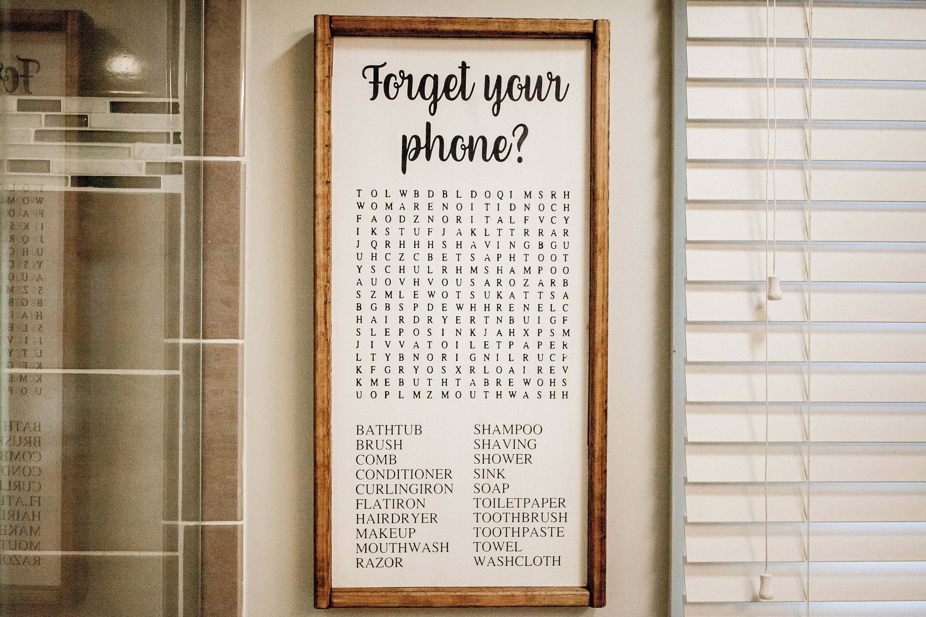 For your phone Sign Word Search Bathroom Sign Funny