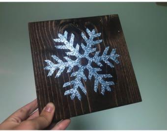 Glitter snowflake sign