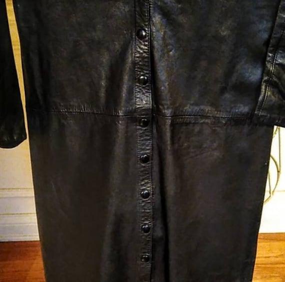 Vintage Michael Hoban North Beach Leather Dress