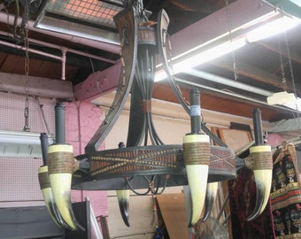 Bull Horn Chandelier (One of a Kind)