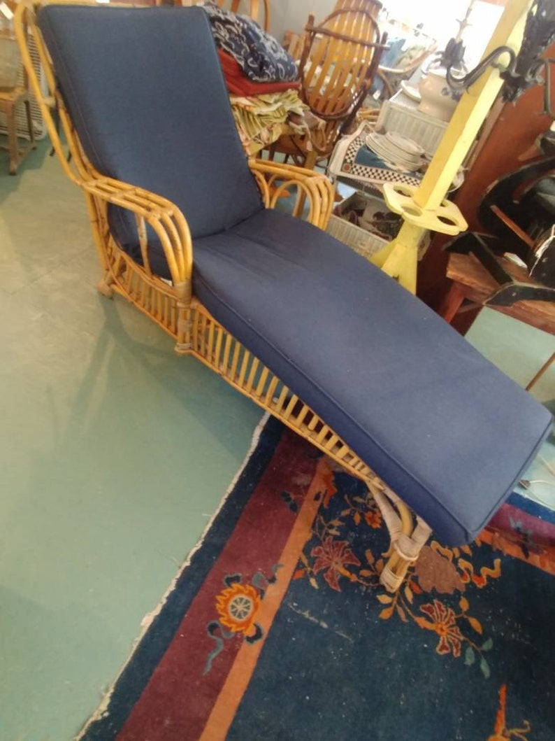 Antique Bamboo Chaise Lounger