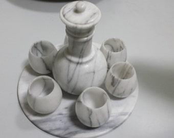 20% DISCOUNT with coupon code! Marble Decanter Set