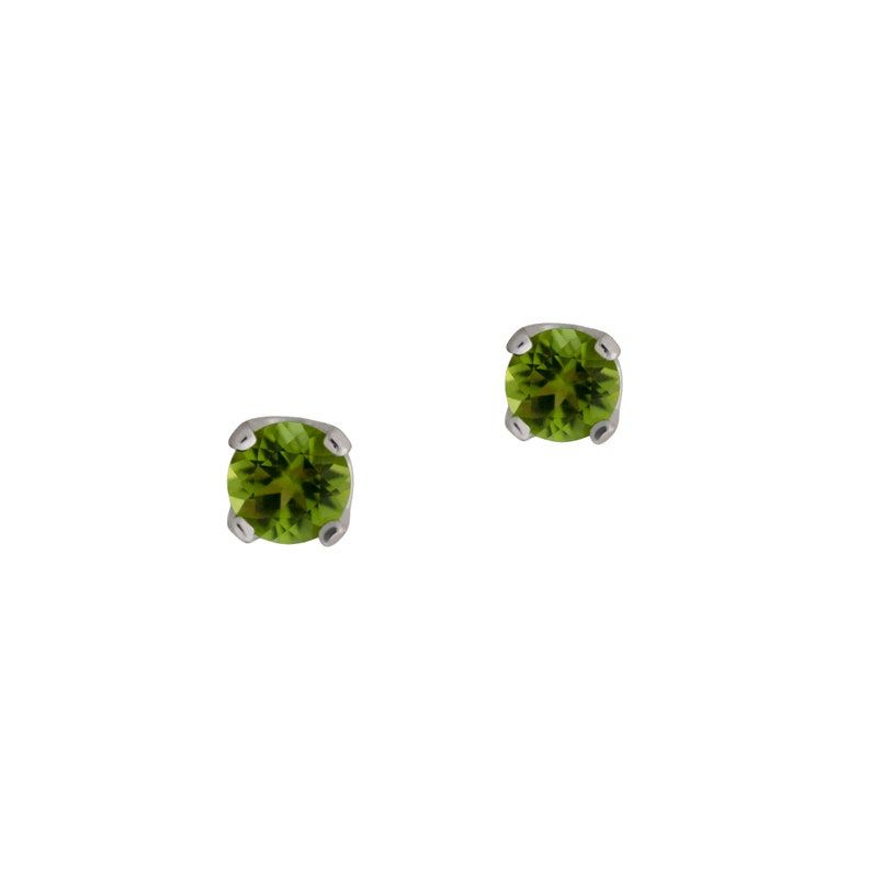 Peridot Earrings Sterling Silver Mental Health Donation Made in the USA August Birthstone Green Gifts Minimalist Gifts