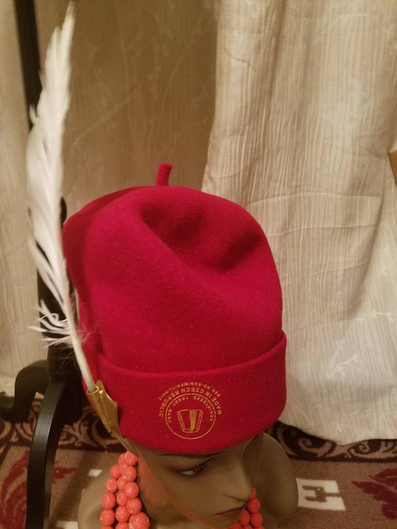 Quality Okpu Ndi Nze  High Chief Cap  Double Chief Traditional Hat ... a828cf0afe5b