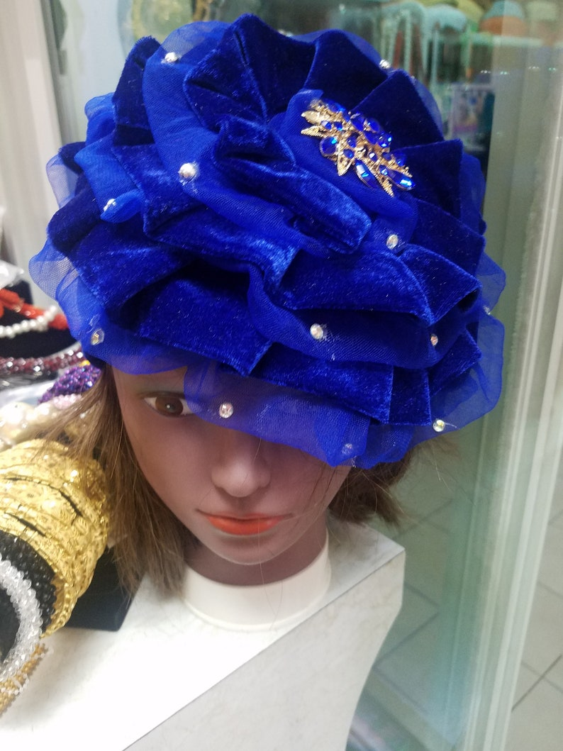 Turban capReady to wear Turban Rose Turban Cap Velvet Turban Hat Auto Turban