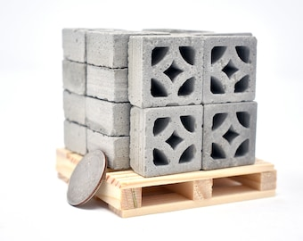 Mini Concrete Blocks and Building Kits by minimaterials on Etsy