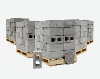1:12 Scale Concrete Block Pallets (300pk)   scale diorama   112 modern dollhouse   architect gift   gift for mom   gift for dad   dad gift