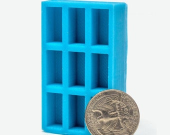 1:12 Scale Red Brick Mold   concrete mold   miniature   silicone mold   diy craft supply   modern dollhouse   miniature building supplies