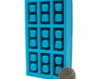 1:12 Scale Cinder Block Mold   concrete mold   miniature   silicone mold   diy craft supply   modern dollhouse   miniature building supplies