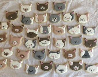 2 Dozen Sweet Kitten Cookies for any Cat Lover