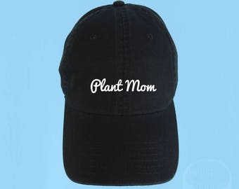 PLANT MOM Dad Hat Embroidered Baseball Black Cap Low Profile Custom Strap  Back Unisex Adjustable Cotton Baseball Hat 4a4148edd64e